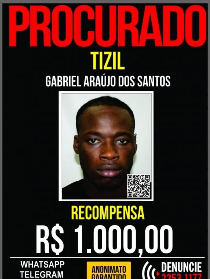 O Disque Denúncia já chegou a oferecer R$1 mil por informações que levassem à prisão de Tiziu