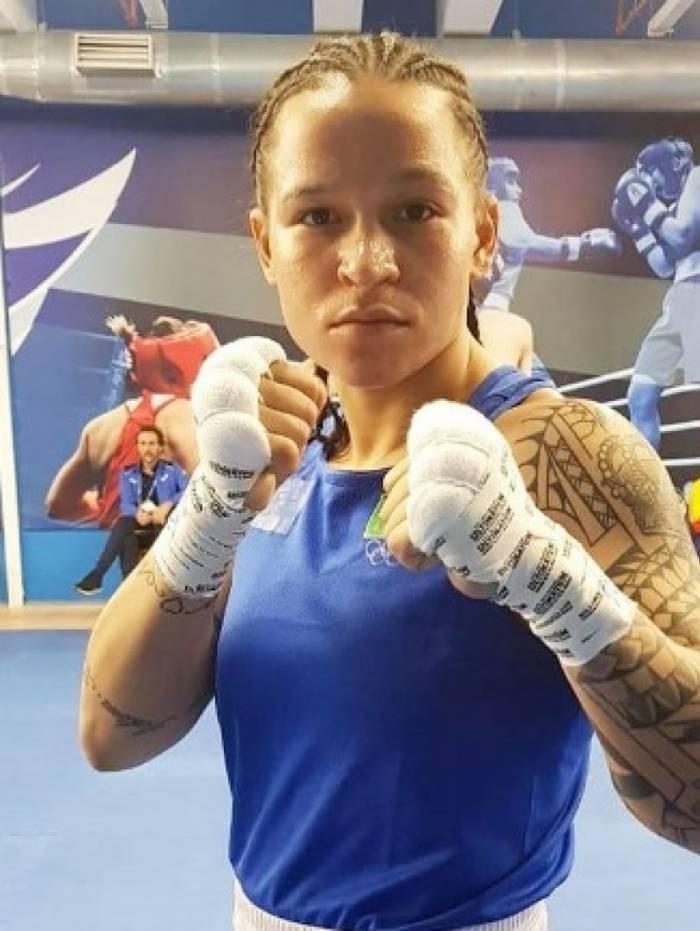 Atleta Bia Ferreira no Mundial de Boxe