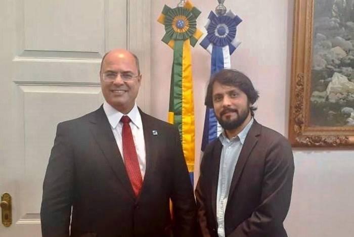 Governador Wilson Witzel e o prefeito de Volta Redonda, Samuca