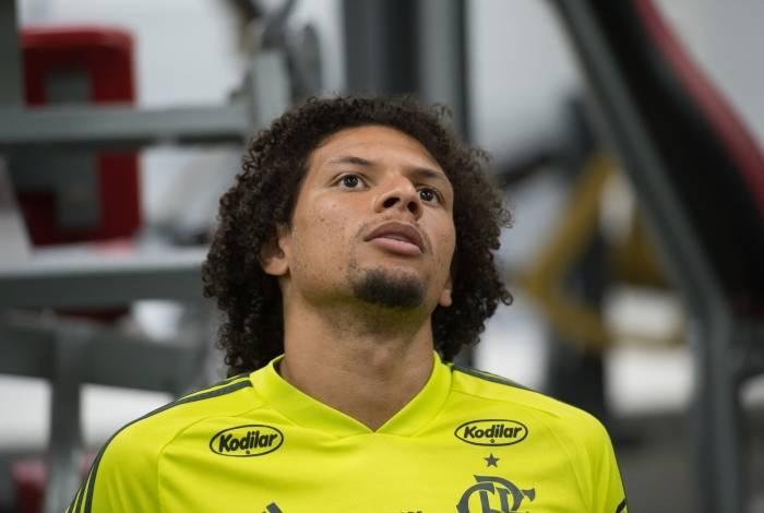 Willian Arão no treino do Flamengo
