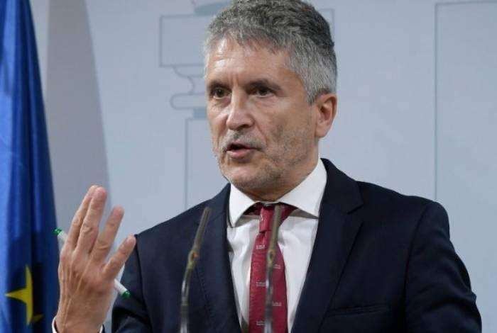 O ministro do Interior espanhol, Fernando Grande-Marlaska, que está em Barcelona, em 19 de outubro de 2019