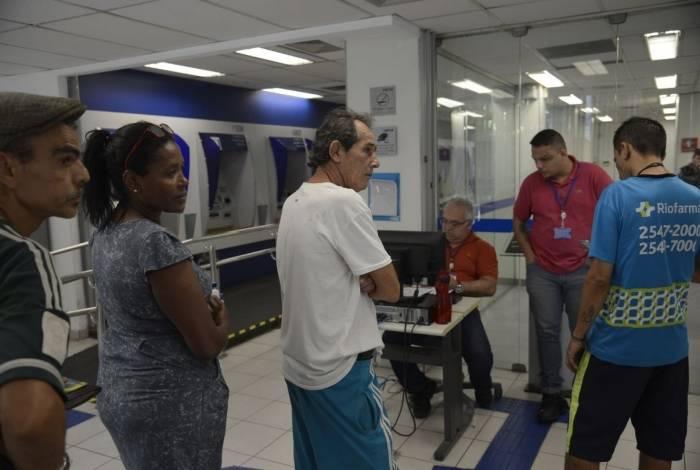 Atendimento na agência da Caixa Econômica Federal, na Rua Riachuelo, para saque de até R$ 500 em contas do Fundo de Garantia do Tempo de Serviço (FGTS) para os não correntistas do banco nascidos em janeiro