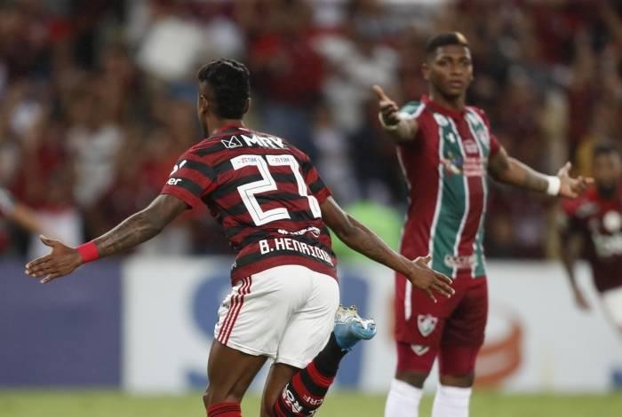 Bruno Henrique abre o placar logo aos três minutos