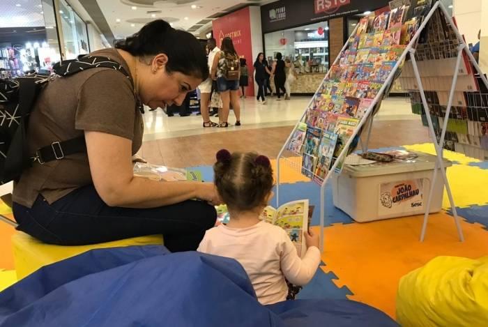 Ponto de leitura estará no Caxias Shopping neste sábado