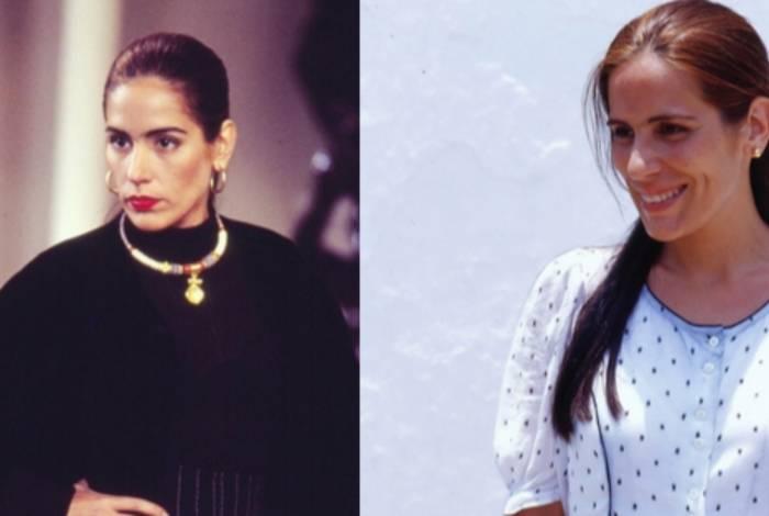Glória Pires como Ruth e Raquel de 'Mulheres de Areia'