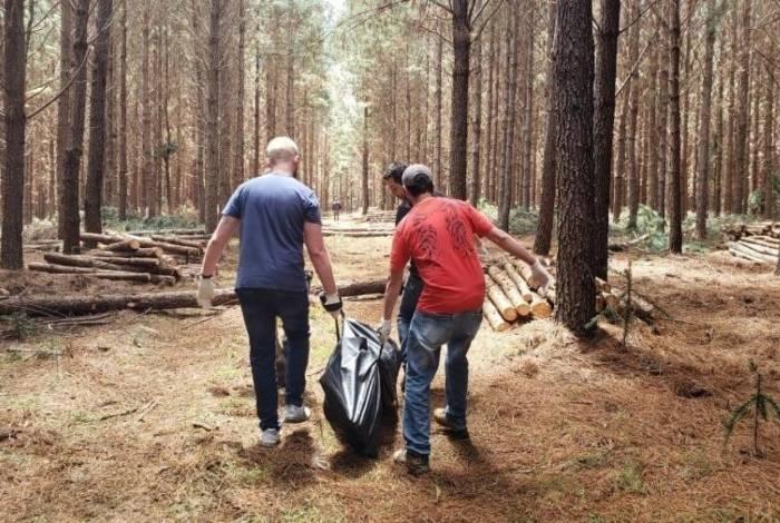 Homicídio aconteceu em área de reflorestamento