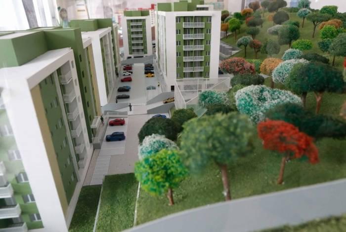Complexo tem 300 unidades com preços a partir de R$ 195 mil. Extensa área verde chama a atenção