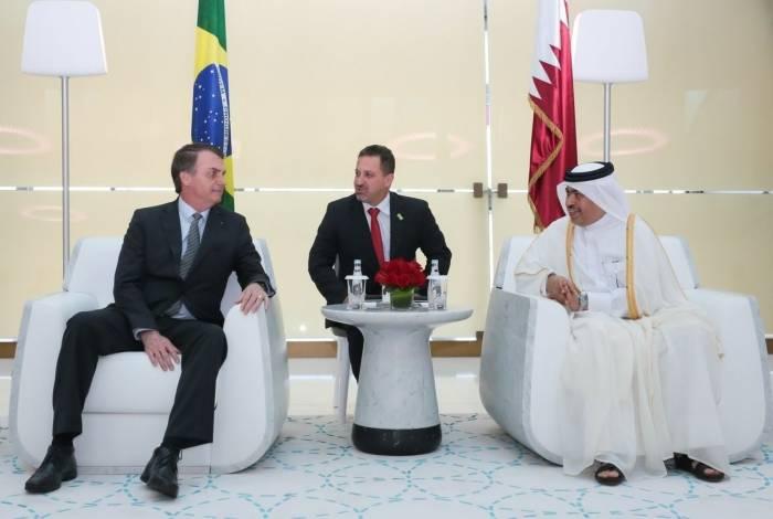 Bolsonaro esteve com príncipe da Arábia Saudita para fechar acordos entre os dois países