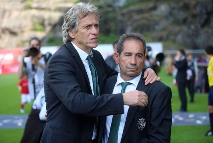 Jorge Jesus, técnico do Flamengo, e Otávio Machado