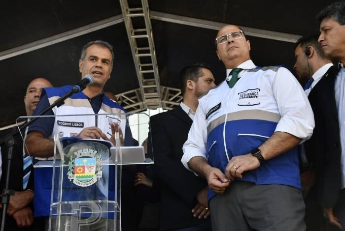 O prefeito Rogerio Lisboa e o governador Wilson Witzel estarão reunidos novamente na inauguração da base em Austin