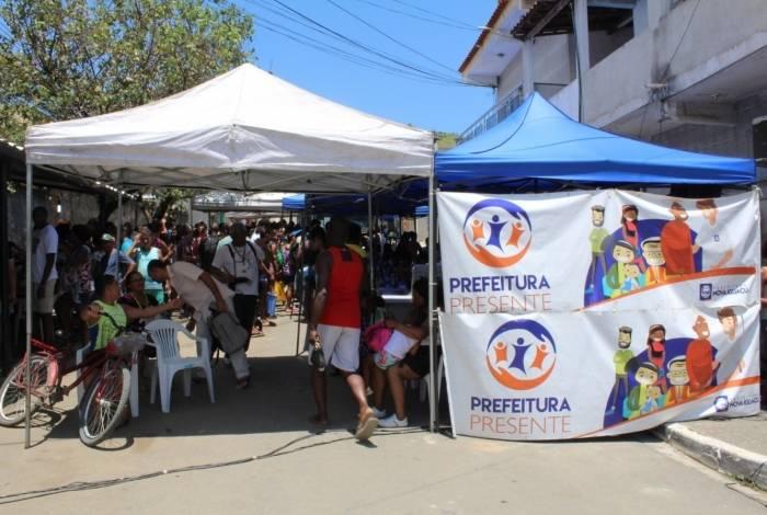 O Programa levou serviços sociais e de saúde para os moradores atingidos pelo temporal