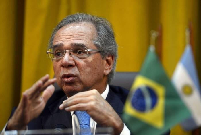 O ministro da Economia do Brasil, Paulo Guedes