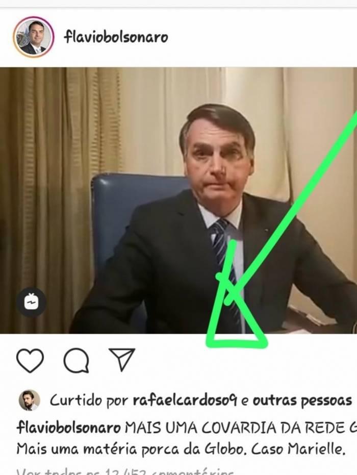 Rafael Cardoso curte postagem de Flávio Bolsonaro contra a Globo