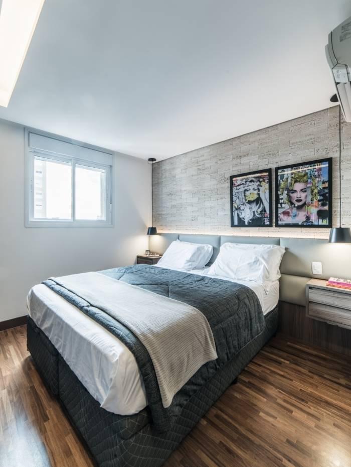 Para quem quer apostar no conforto dentro do quarto, as cabeceiras acolchoadas são super macias