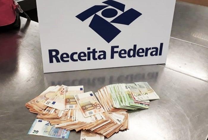 Receita Federal apreende cerca de 16 mil euros no Aeroporto do Galeão