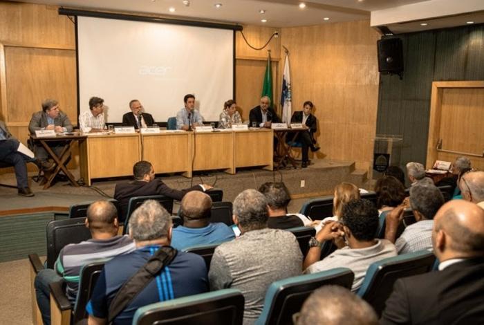 Audiência pública realizada pela Comissão de Saneamento Ambiental da Assembleia Legislativa do Estado do Rio de Janeiro (Alerj)