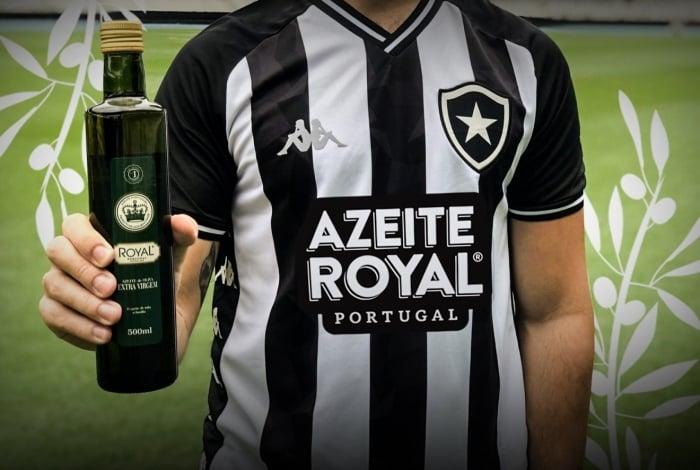 Botafogo ampliou patrocínio com azeite Royal, que terá marca estampada na parte da frente da camisa