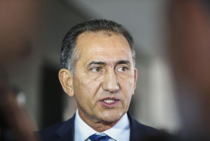 O governador do Amapá, Waldez Góes, fala à imprensa no Palácio do Planalto