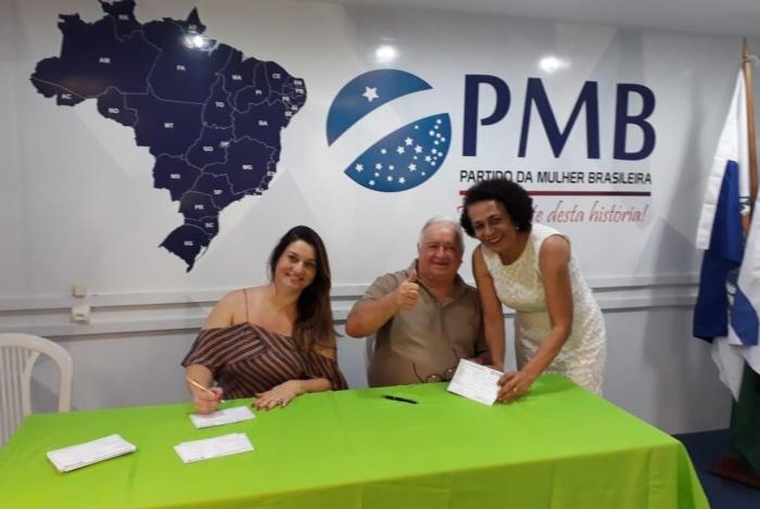 Carminha (à esquerda), Jerominho e Suêd Haidar: rumo às eleições