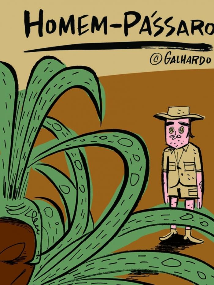 Caco Galhardo lança a HQ 'Homem-Pássaro', sua primeira narrativa longa em quadrinhos