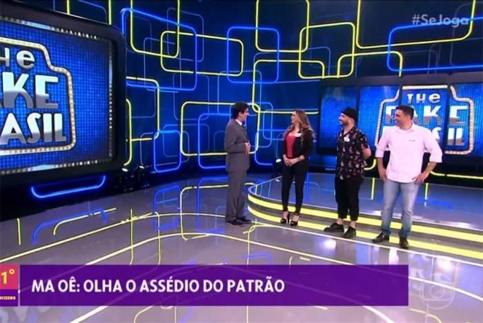 Marcelo Adnet imita Silvio Santos e simula assédio no 'Se Joga'