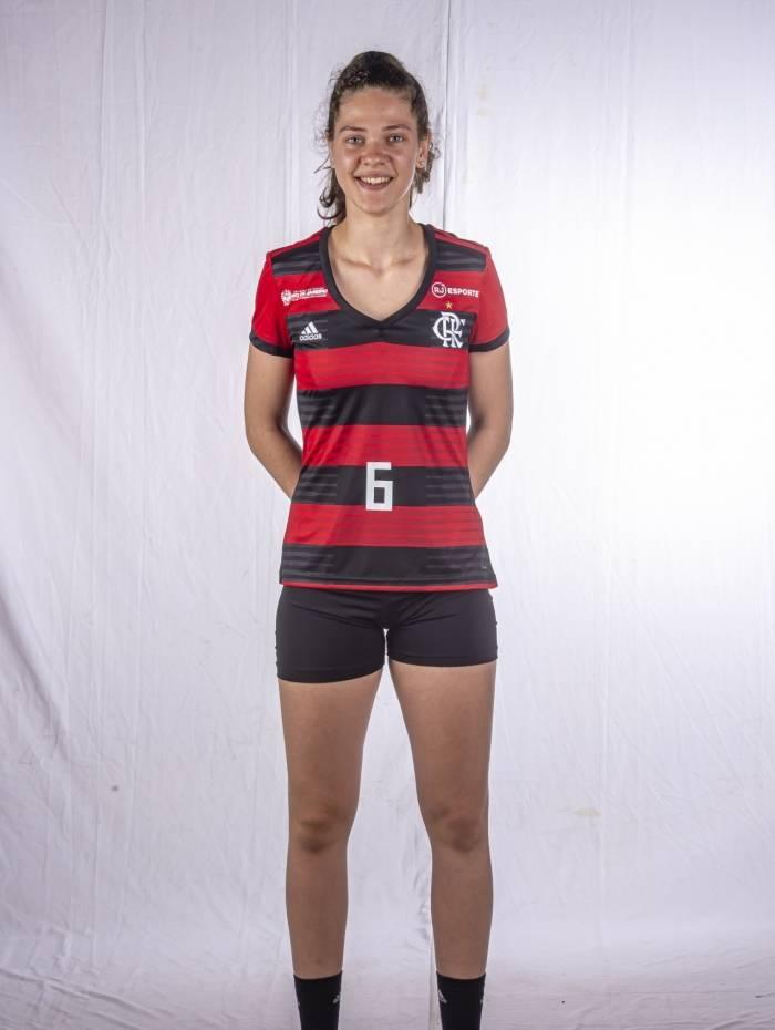 A levantadora argentina María Victoria Mayer, do Flamengo