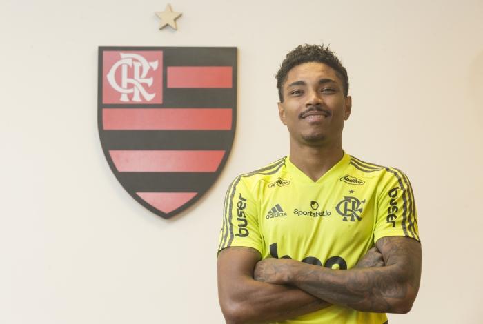 ATAQUE - Entrevista com jogador Vitinbho do Flamengo no Ninho do Urubu em Vargem Grande. Foto: Daniel Castelo Branco / Agencia O Dia