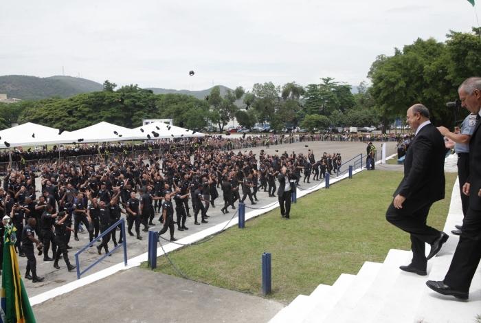 Rio, 08/11/2019, Governador Wilson Witzel assiste a formatura de novos policiais militares. CEFAP. Sulacap, zona oeste do Rio. Foto: Ricardo Cassiano/Agencia O Dia.