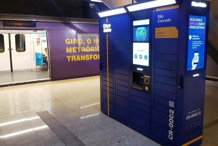 Armários inteligentes estarão presentes em 38 estações de metrô