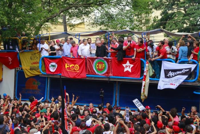 Ex-presidente Lula faz discurso