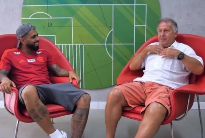 Gabigol e Zico são os jogadores que mais fizeram gols em uma edição de Brasileiro pelo Fla: 21 bolasna rede