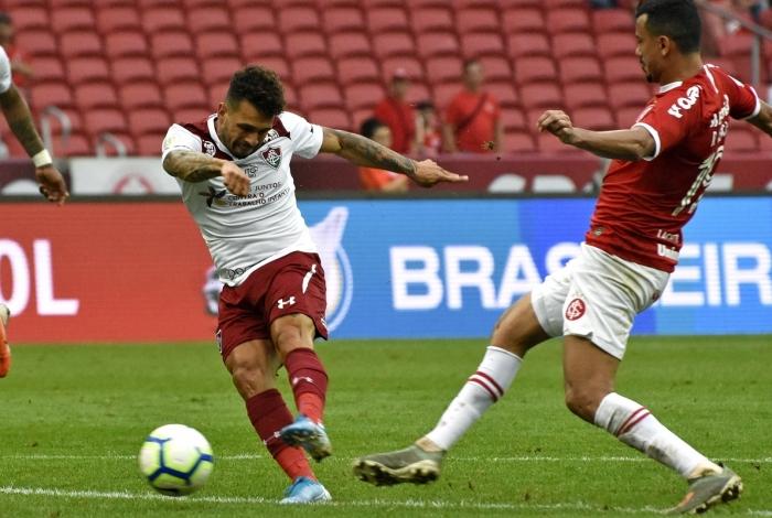 Porto Alegre, RS - Brasil - 10/11/2019 - Beira Rio - Wellington Nem comemorando gol Campeonato Brasileiro. 32
