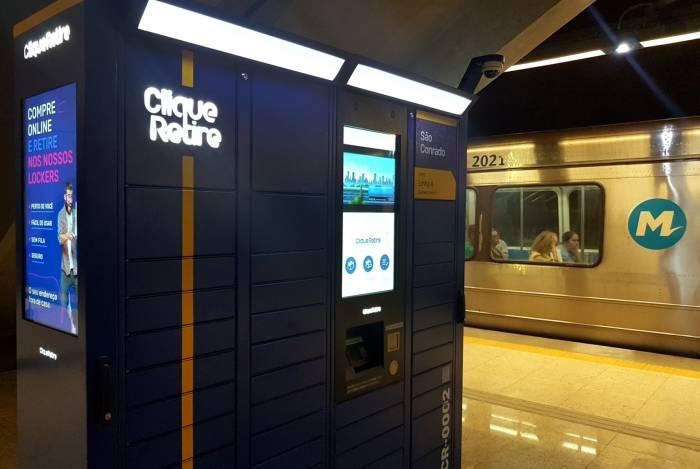 Empresa Clique Retire fecha parceria com Metrô Rio e instala boxes nas estações para usuários retirarem encomendas compradas pela internet