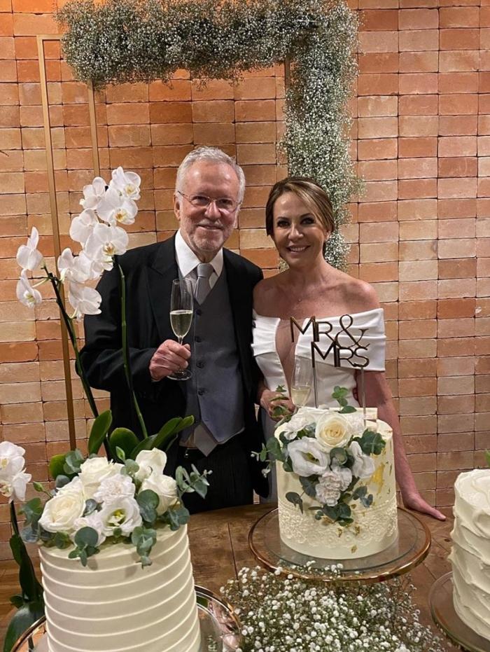 Alexandre Garcia se casa aos 79 anos