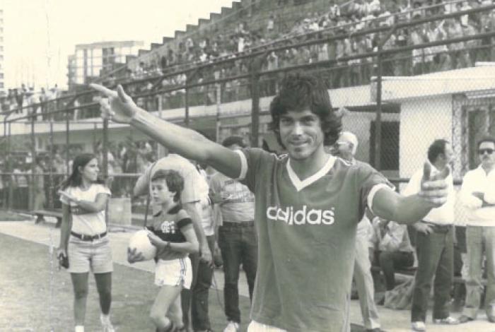 Lico na época em que defendia o time do Flamengo