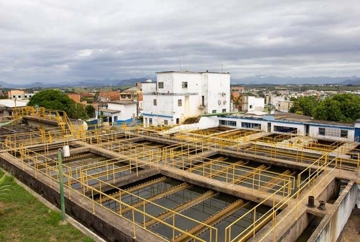Estação de tratamento de água da Cedae no Morro de Santana, em Macaé