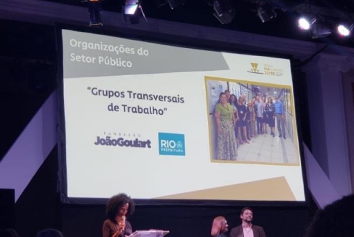 A Fundação João Goulart, vinculada à Secretaria Municipal de Fazenda, ganhou o Prêmio Ser Humano 2019, na categoria 'Organizações do Setor Público'