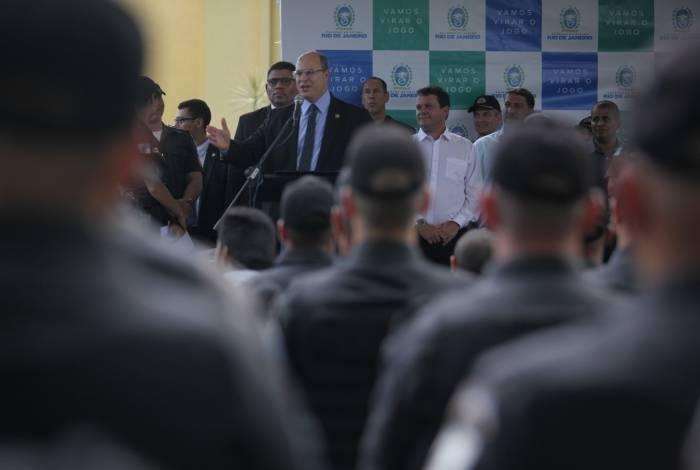 Formatura de Policiais Militares com a participação do Governador do Rio, Wilson Witzel, em São Gonçalo