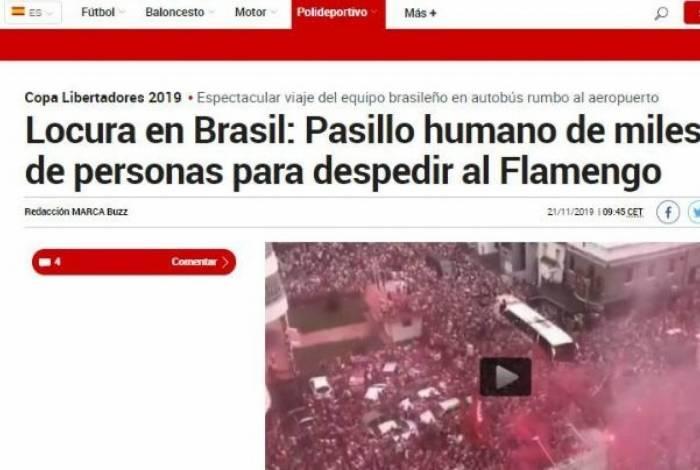 Gafe! Jornal espanhol confunde festa da torcida do Flamengo com a do Náutico