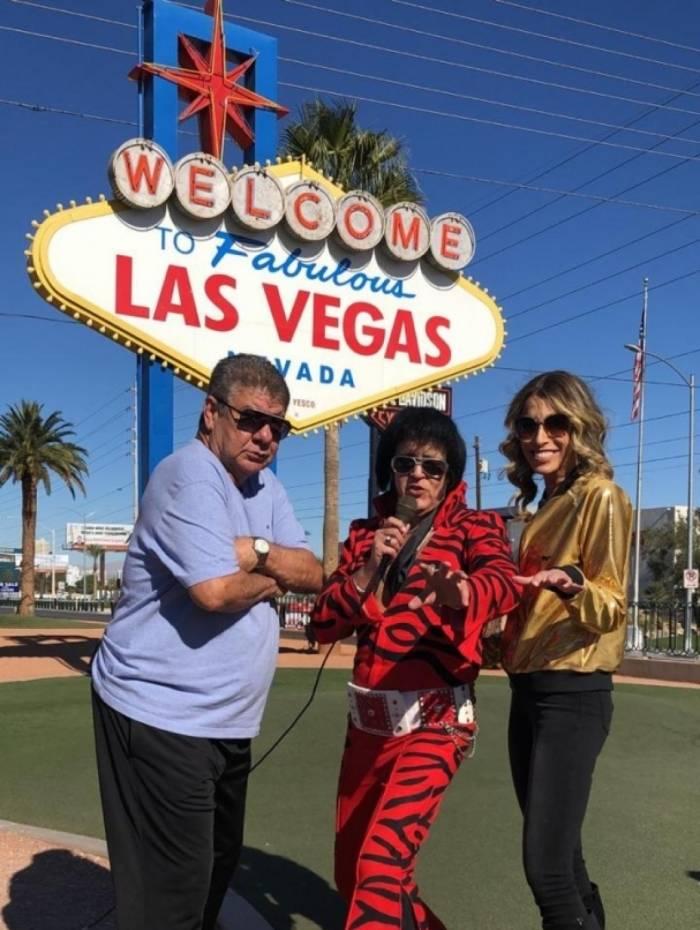 Joel Santana e Adry Santos estão em Las Vegas gravando para o Canal do Joel