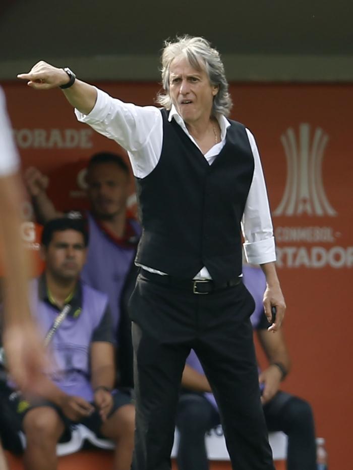 Jorge Jesus comandou o Flamengo no bicampeonato do Rubro-Negro na Libertadores