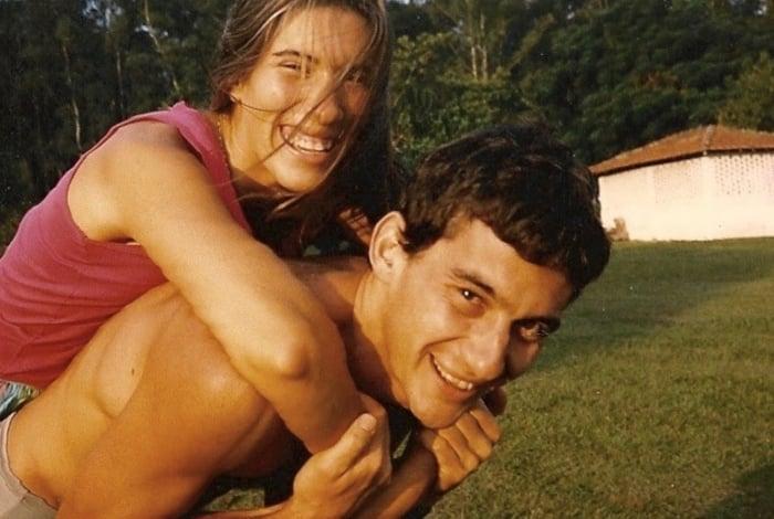 Adriane e Aryton Senna