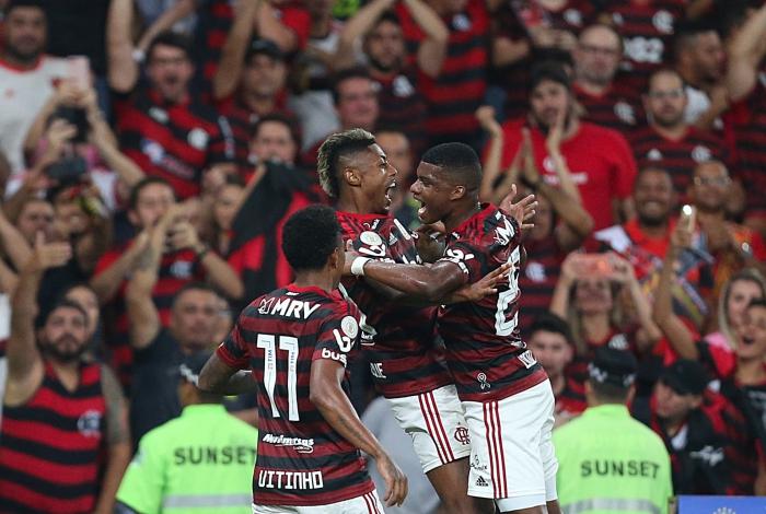 27/11/2019 - FLAMENGO X CEARA - Flamengo reencontra a torcida rubro-negra, nesta quarta-feira, no Maracana, pela 35a rodada do Brasileirao.  Gol do Bruno Henrique. Foto: Daniel Castelo Branco / Agencia O Dia