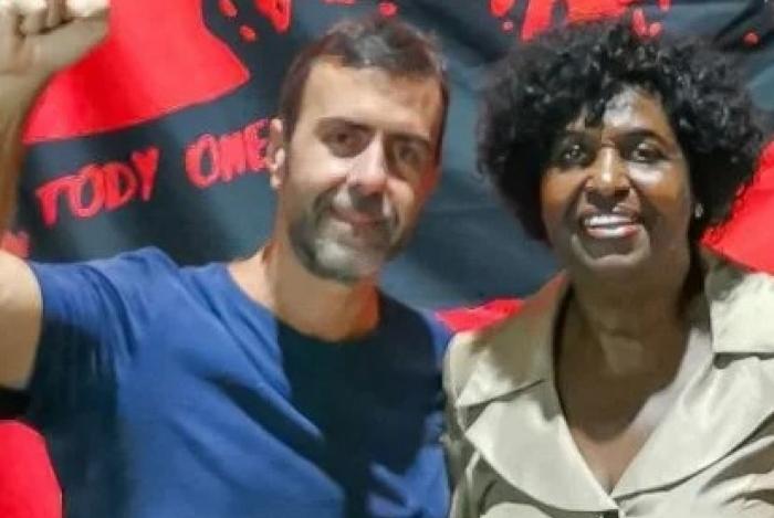 Os deputados federais Marcelo Freixo e Benedita da Silva.