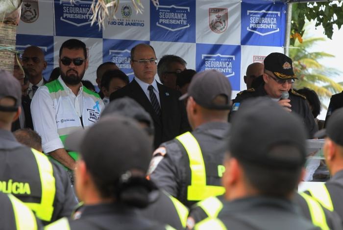 Governador Wilson Witzel durante o lançamento do Barra Presente
