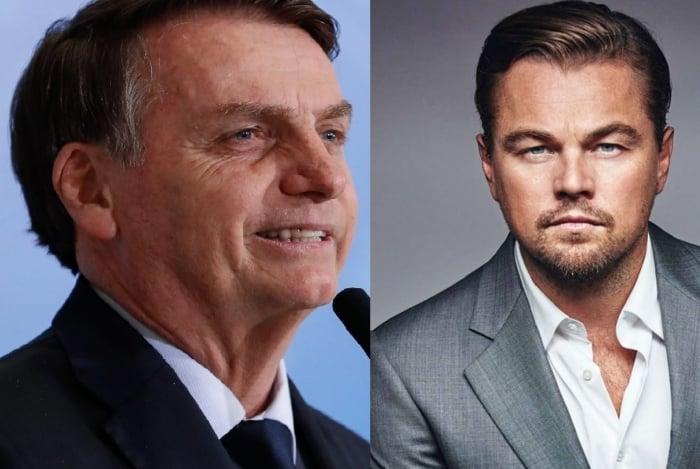 Presidente Jair Bolsonaro diz que DiCaprio está 'dando dinheiro para tacar fogo na Amazônia'