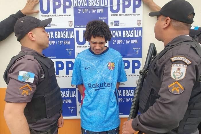 Breno Diniz Matos, de 22 anos, foi preso em flagrante