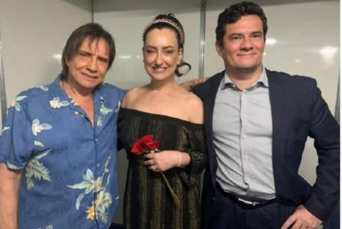 Roberto Carlos, Rosângela e Sergio Moro
