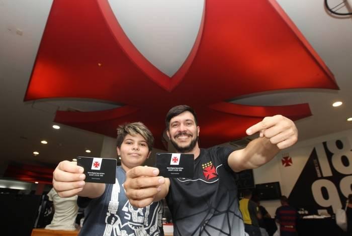 Sócio-geral do Vasco, Fellype Ponte Corrêa reativou o plano e associou o filho, Miguel: 'É um orgulho poder ajudar o clube que amo'