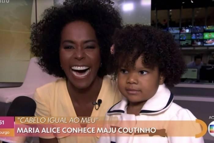 Maju Coutinho e Maria Alice se encontram nos Estúdios Globo